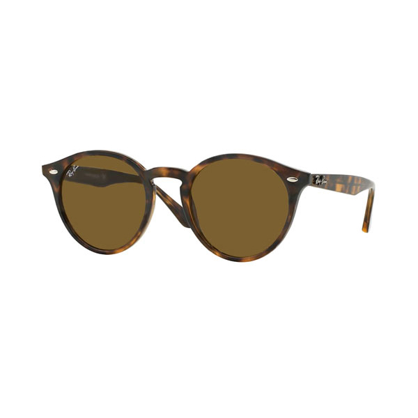 Ray Ban - Occhiale da Sole Unisex, Highstreet Asian Fit, Dark Havana/Mirror Brown RB2180F 710/73 C49