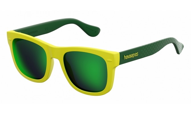 Havaianas - Occhiale da Sole Unisex Kids, Paraty/S, Yellow-Green/Mirror Green QSX Z9 C48