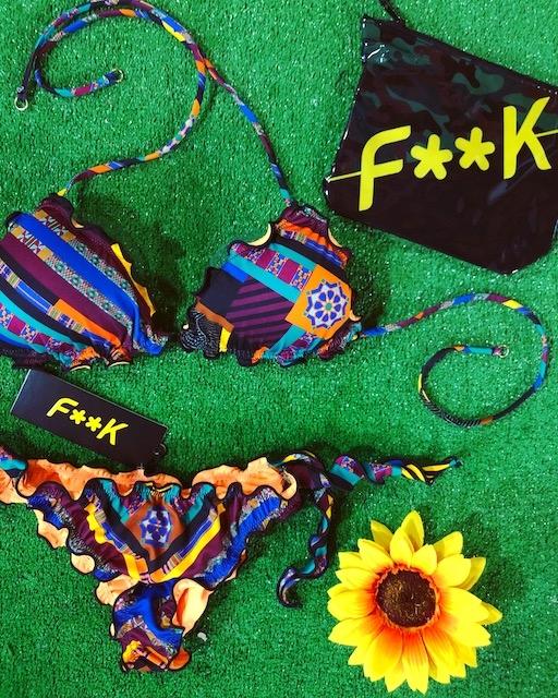 Bikini triangolo frou frou e slip nodi Effek