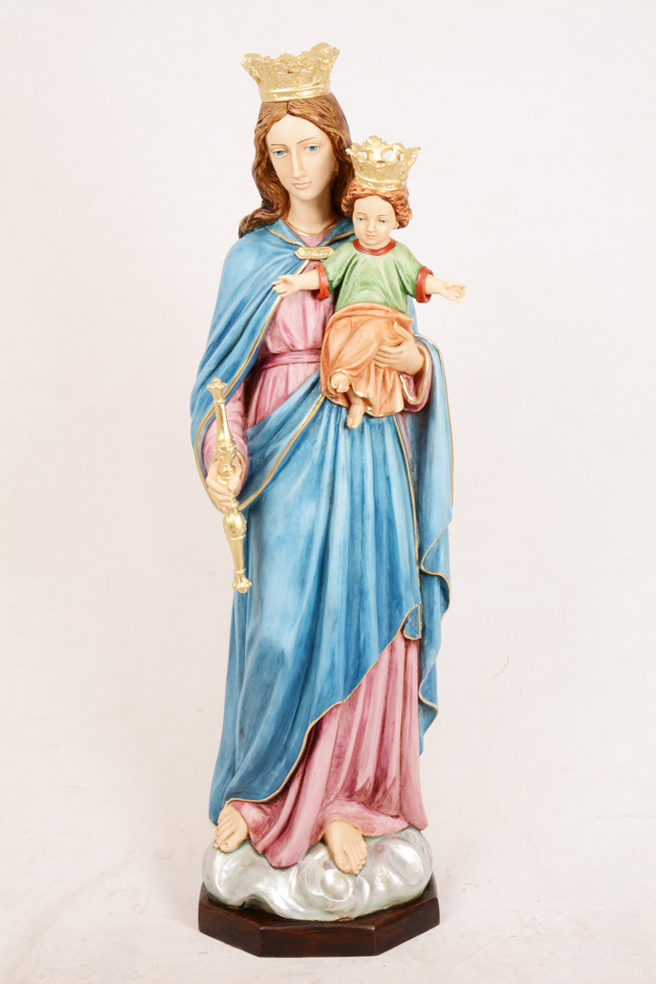Statua Madonna Ausiliatrice in resina h. 110