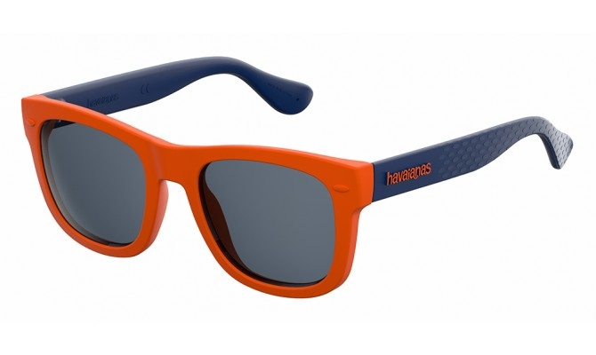 Havaianas - Occhiale da Sole Unisex Kids, Paraty/S, Orange-Blu/Mirror Blu QPS 9A C48