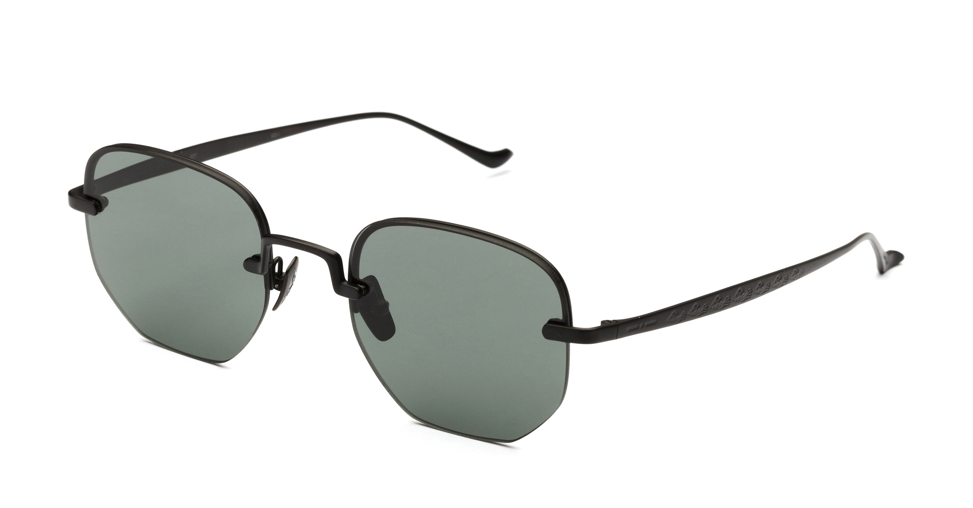 Italia Independent - Occhiale da Sole Unisex, Roy Laps Collection, Matte Black/Full Green 004LP C50