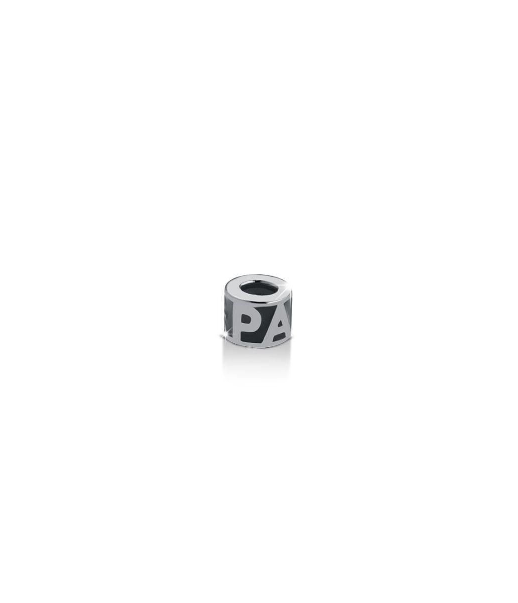 Charm Cilindro argento scritta papà maschietto