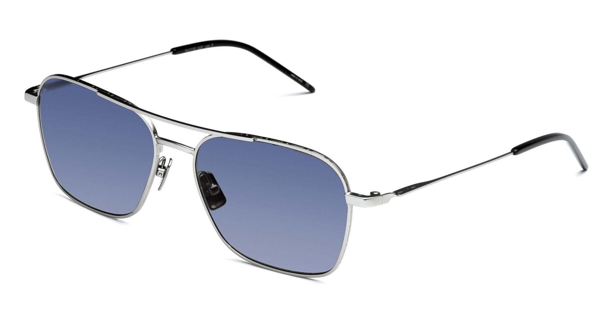 Italia Independent - Occhiale da Sole Uomo, I-I Mod. Igor Laps Collection, Silver/Cosmetic Blue 0308S C50