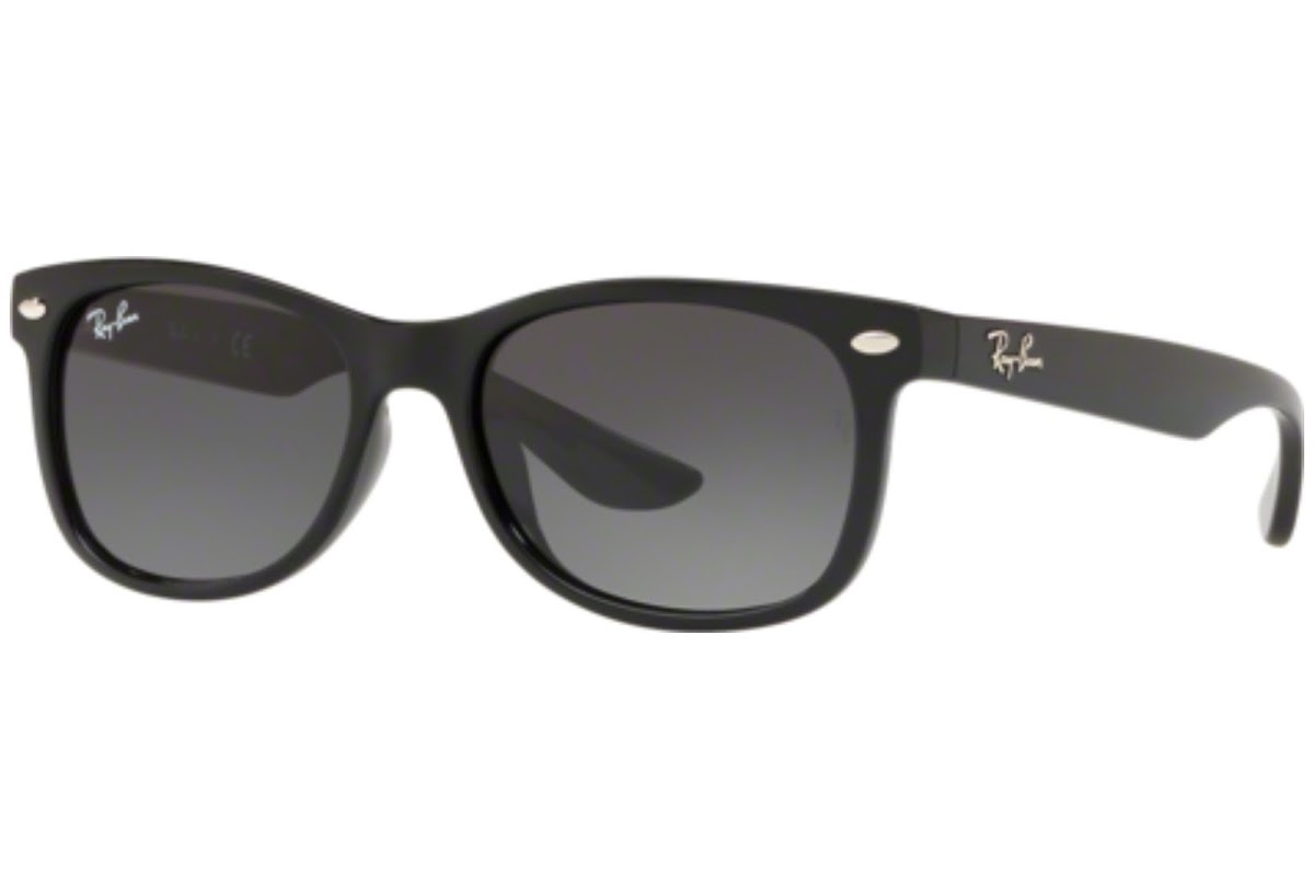 Ray Ban - Occhiale da Sole Unisex Kids, New Wayfarer Junior, Matte Black/Gradient Grey RJ9052S 100/11 C48