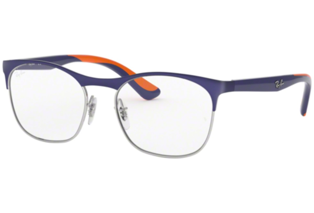 Ray Ban - Occhiale da Vista Unisex Kids, Junior Optical, Matte Blue - Orange RY1054 4073 C49