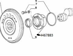 Supporto posteriore albero motore 126 bis -0,2