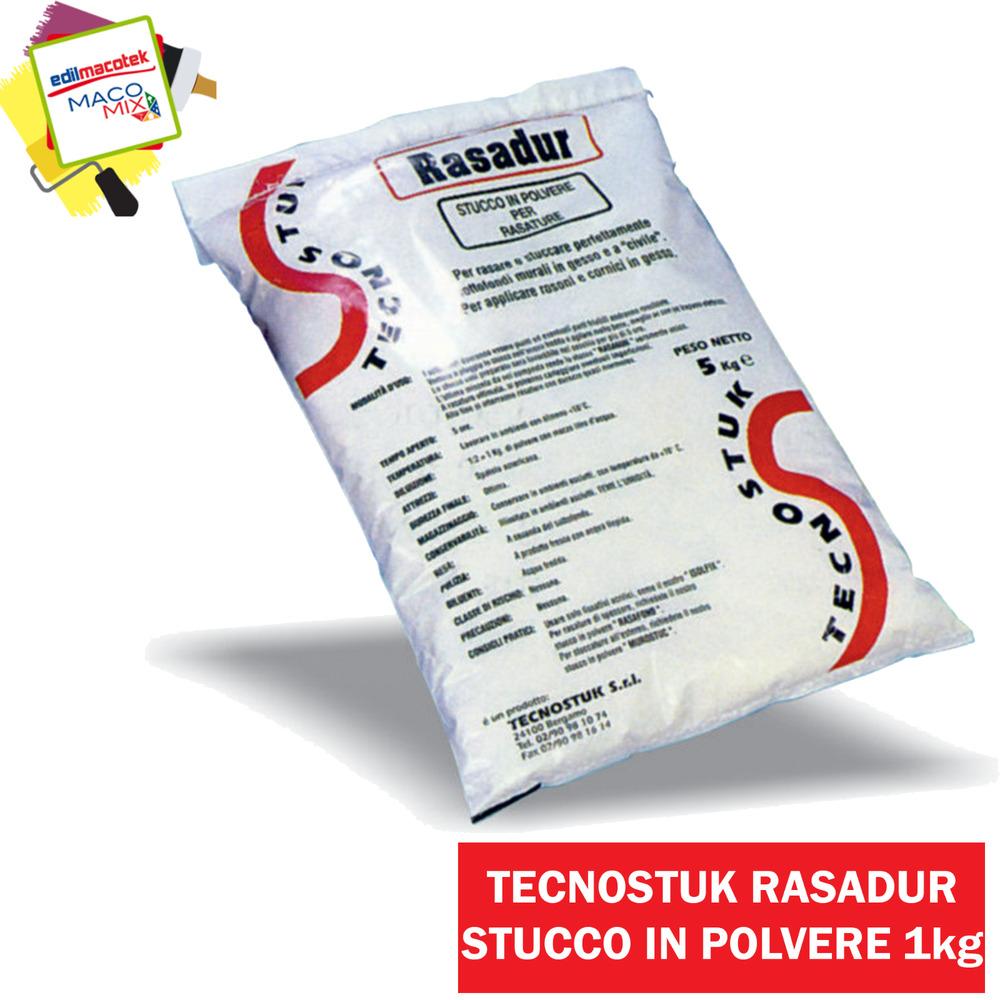 Tecnostuk stucco Rasadur in polvere bianco 5kg