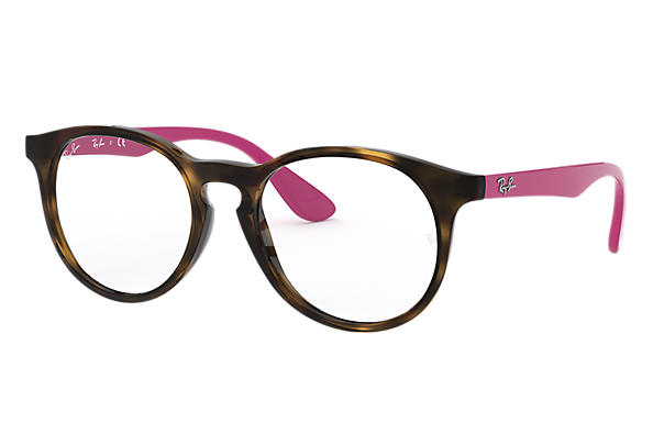 Ray Ban - Occhiale da Vista Bambina, Junior Optical, Dark Havana - Fuchsia RY1554 3729 C48