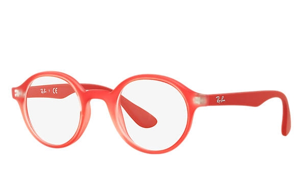 Ray Ban - Occhiale da Vista Unisex Kids, Junior Optical, Rubber Metallic Red RY1561 3669 C39