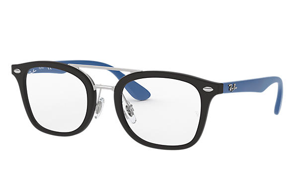 Ray Ban - Occhiale da Vista Unisex Kids, Junior Optical, Matte Black - Blue RY1585 3778 C47