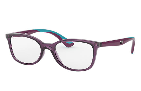 Ray Ban - Occhiale da Vista Bambina, Junior Optical, Violet - Green Water RY1586 3776 C49
