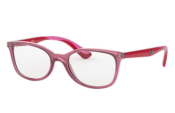 Ray Ban - Occhiale da Vista Bambina, Junior Optical, Pink - Red RY1586 3777 C49