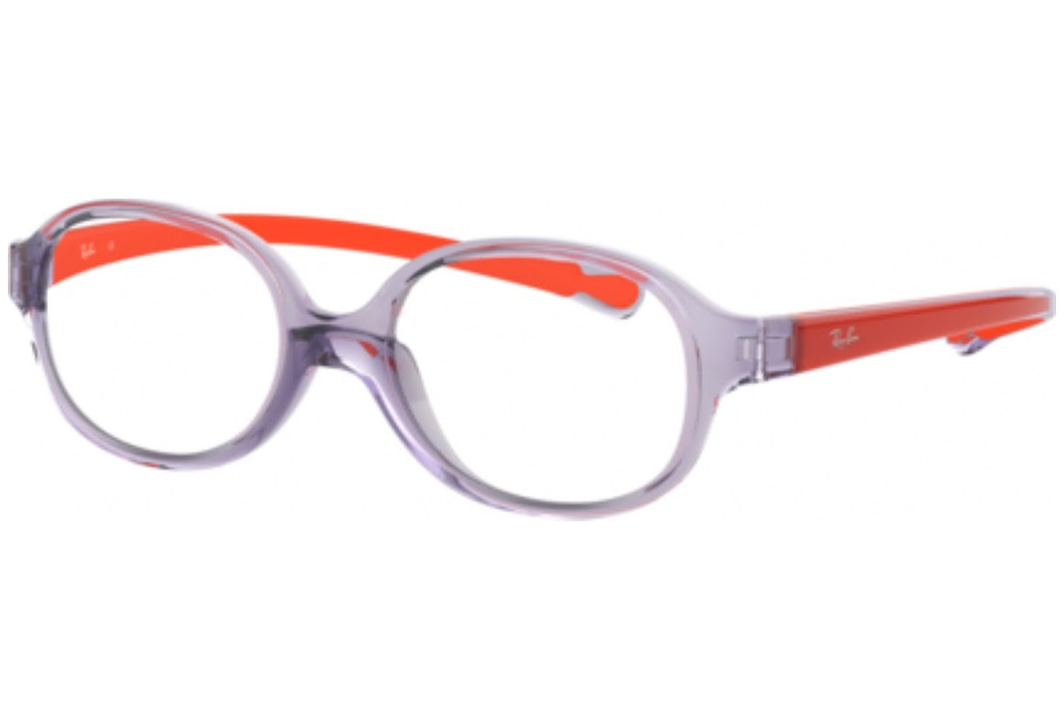 Ray Ban - Occhiale da Vista Unisex Kids, Junior Optical, Trasparent Light Violet RY1587 3765 C39