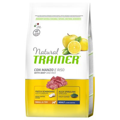 Trainer Natural Adult Small & Toy Manzo & Riso
