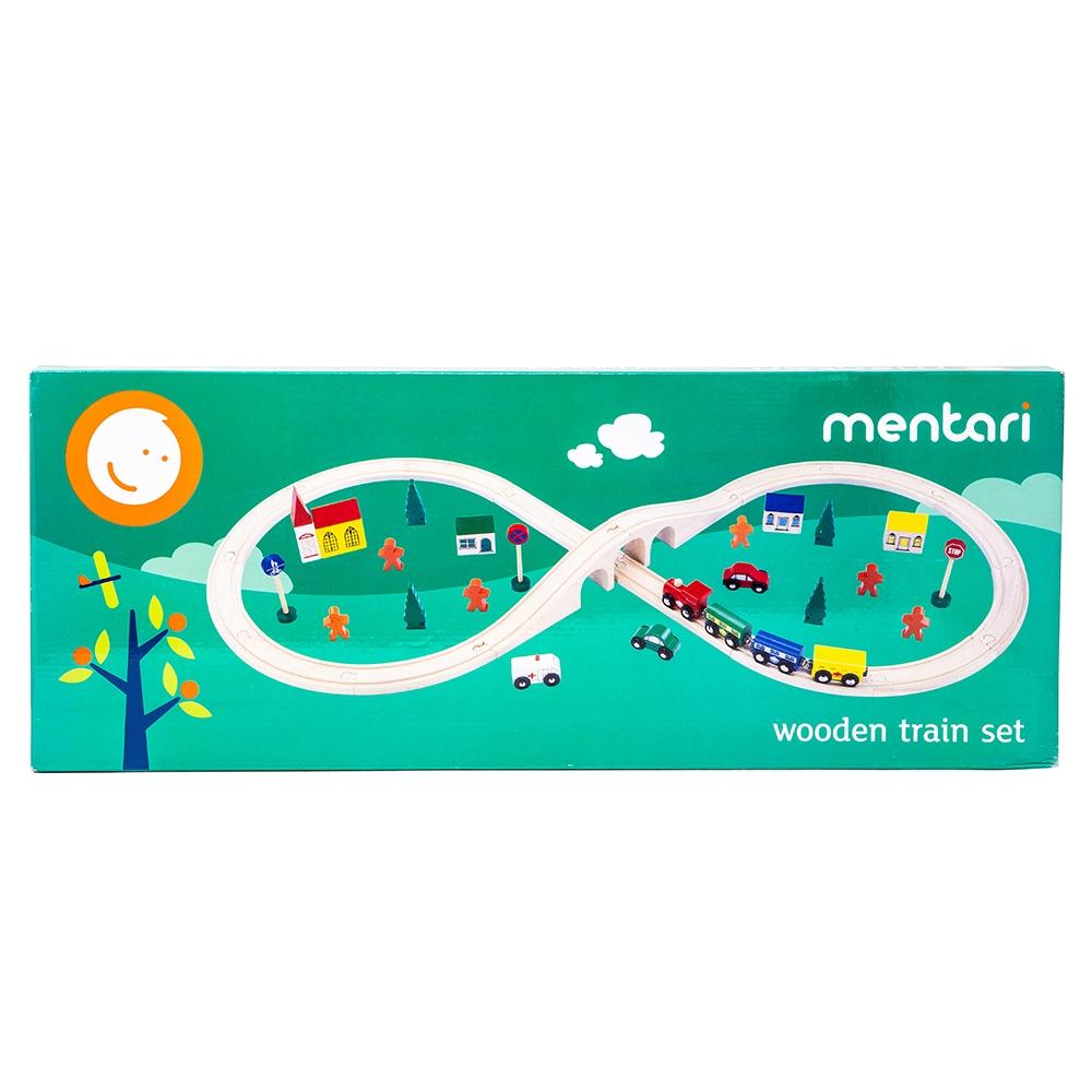 MENTARI Wooden Train Set