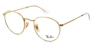 Ray Ban - Occhiale da Vista Unisex, Round Metal Optics, Matte Gold RX3447 2730 C50