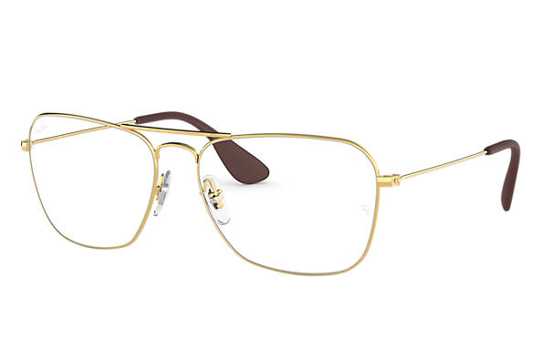 Ray Ban - Occhiale da Vista Unisex, Aviator Optics, Matte Gold RX3610 2500 C58