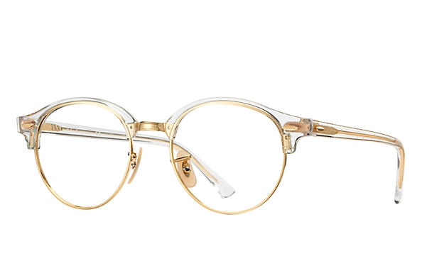 Ray Ban - Occhiale da Vista Unisex, Clubround Optics, Transparent - Gold RX4246 5762 C49