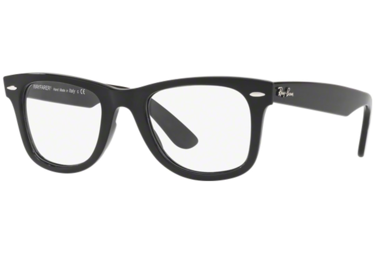 Ray Ban - Occhiale da Vista Unisex, Wayfarer Ease Optics, Matte Black RX4340 2000 C50