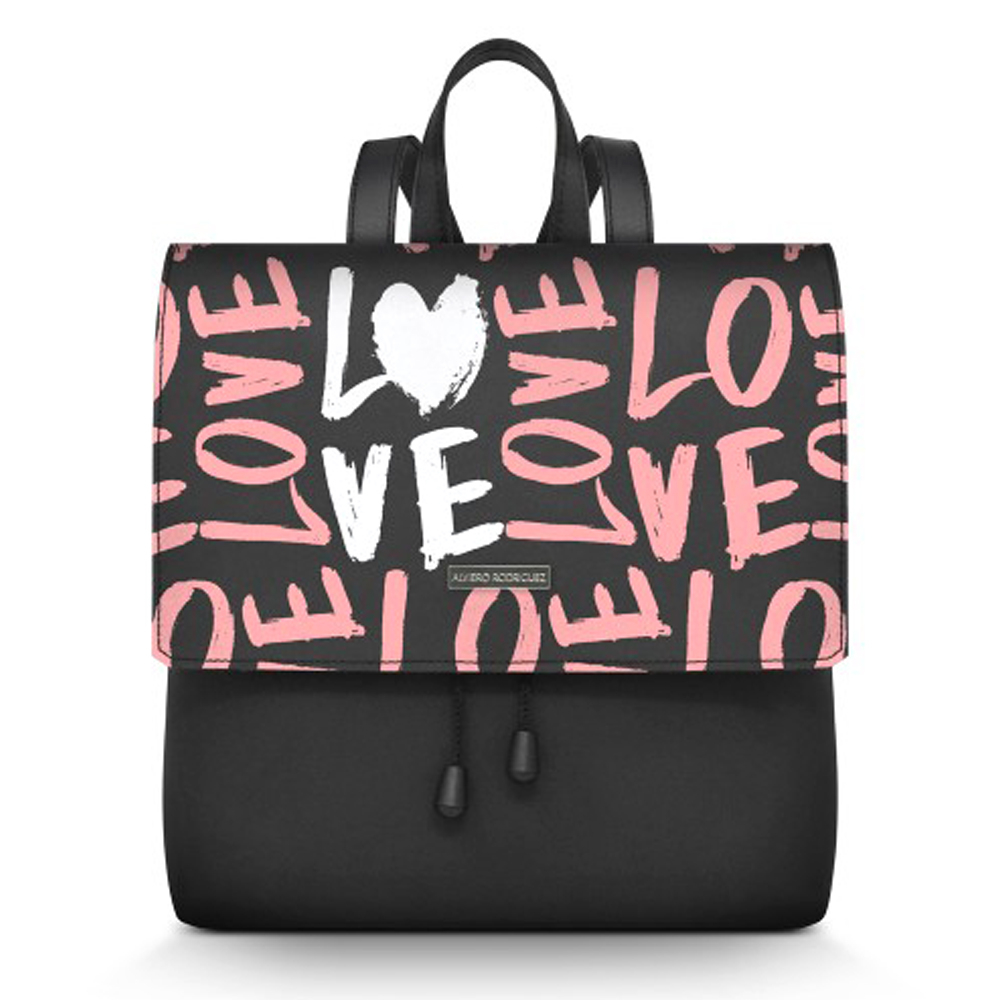 Backpack Alviero Rodriguez LETTERING LOVE ZAINETTO LL Unico