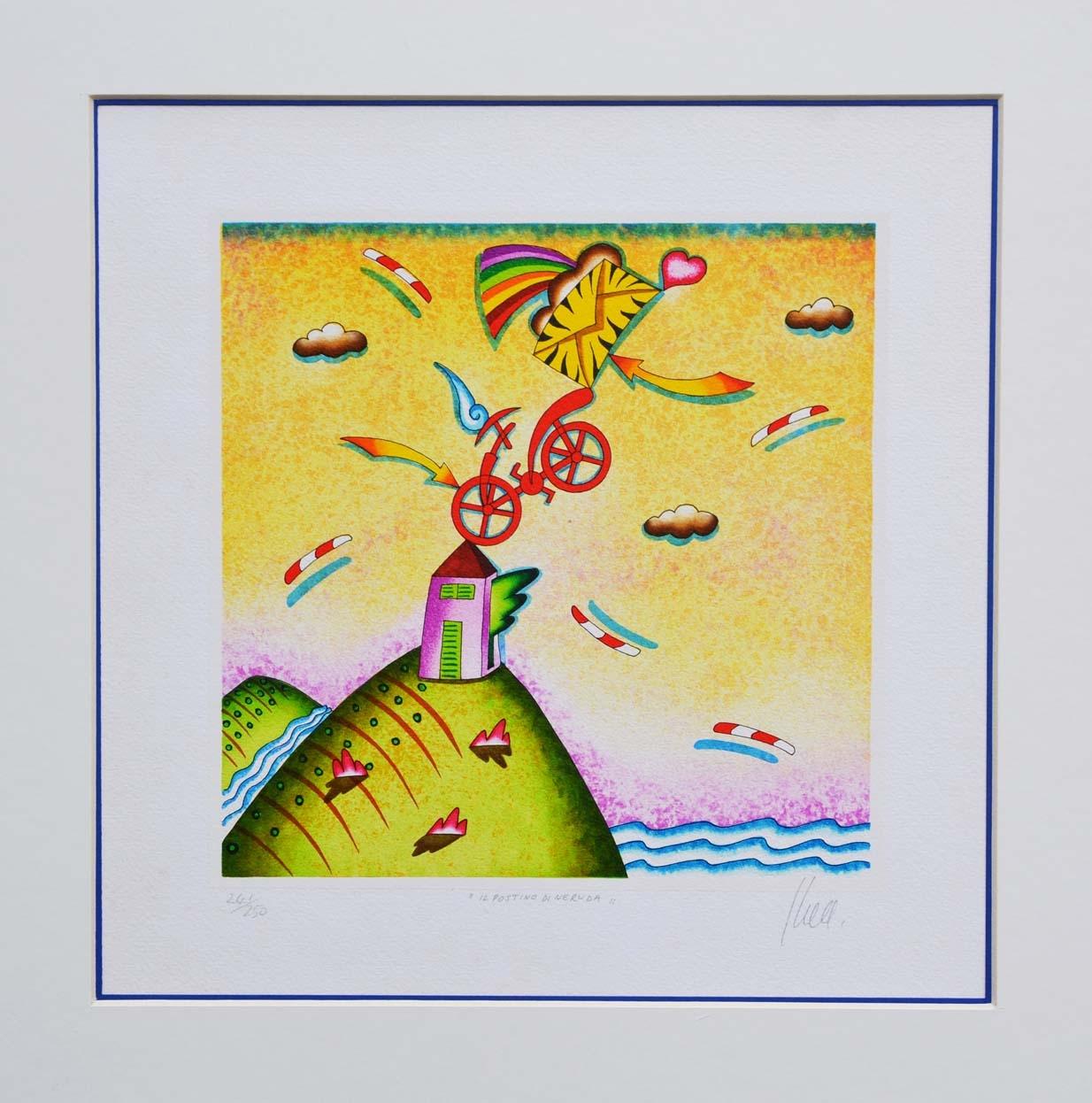 GHELLI GIULIANO, Il Postino di Neruda, Formato cm 29x29