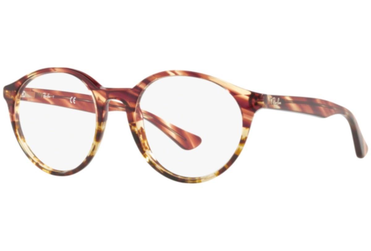 Ray Ban - Occhiale da Vista Unisex, Striped Pink Gradient Beige RX5361 5838 C49