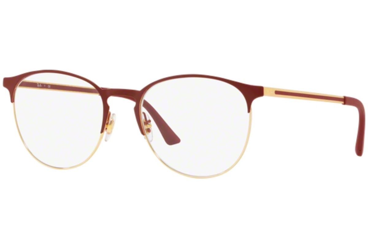 Ray Ban - Occhiale da Vista Unisex, Gold Top on Bordeaux RX6375 2982 C51