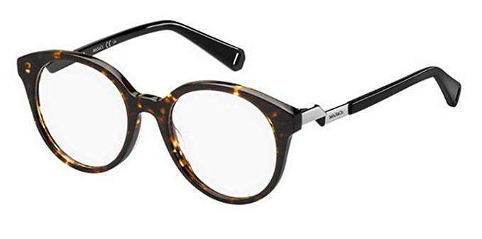 Max & Co - Occhiale da Vista Donna, Dark Havana/Silver Black 341 086F C49