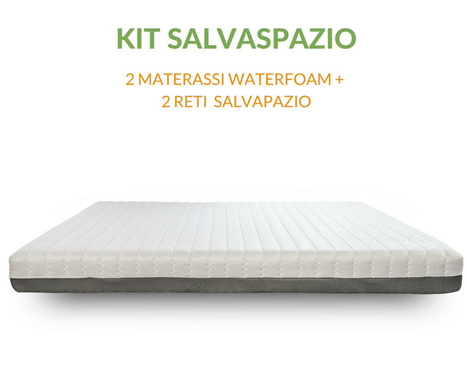 KIT SALVASPAZIO  | 2 MATERASSI IN WATERFOAM +  2 RETI SALVASAZIO