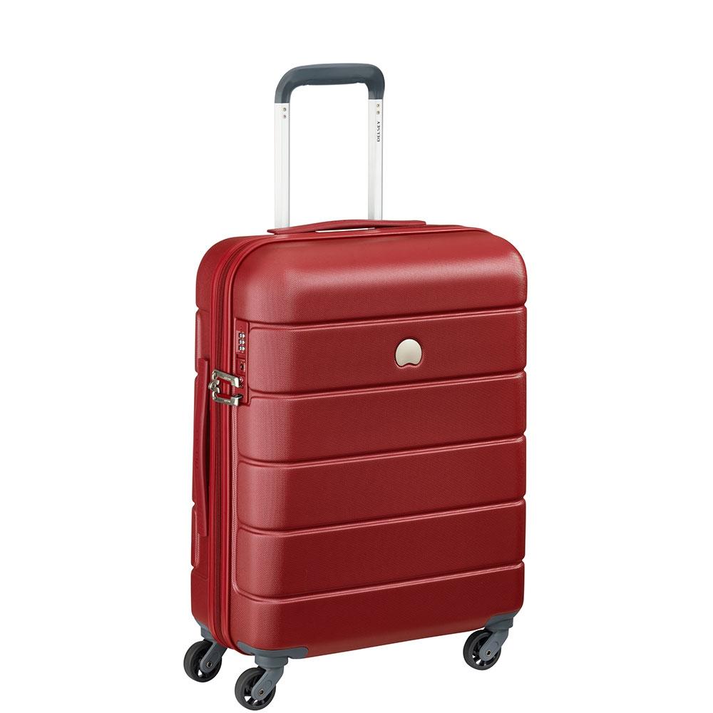 87a3c42c3 Delsey - Lagos - Valigia trolley da cabina Ryanair 55 cm 4 ruote TSA rigido  rosso