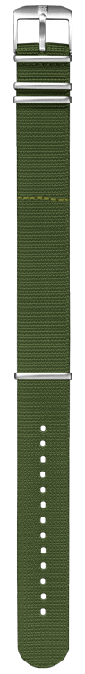 Cinturino verde in nylon stile NATO - 24mm