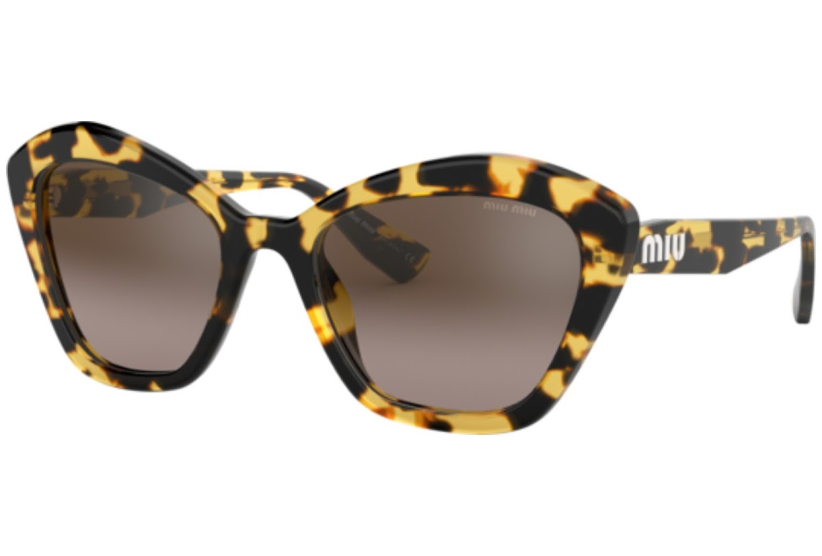 Miu Miu - Occhiale da Sole Donna, Core Collection, Blonde Havana/ Brown Shaded MU 05US 7S0QZ9 C55