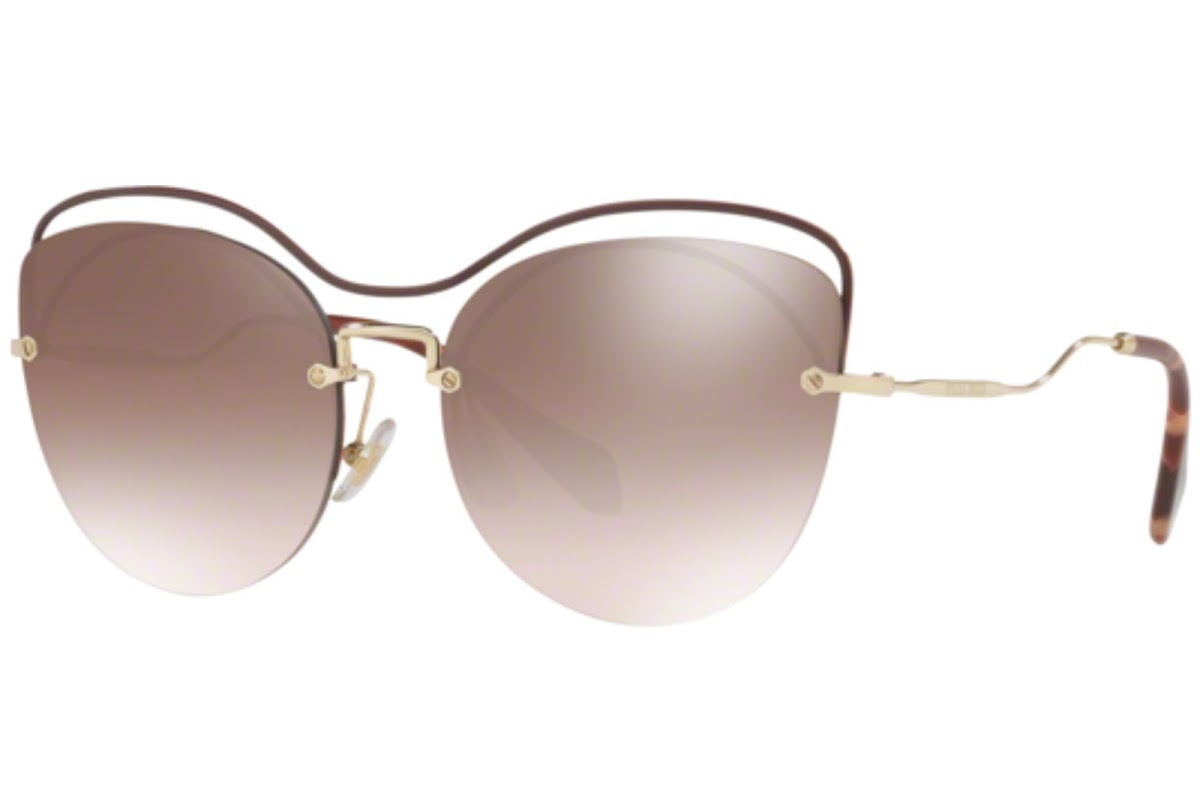 Miu Miu - Occhiale da Sole Donna, Core Collection Scenique Evolution, Brown/ Brown Silver Shaded MU 50TS R1JQZ9  C60