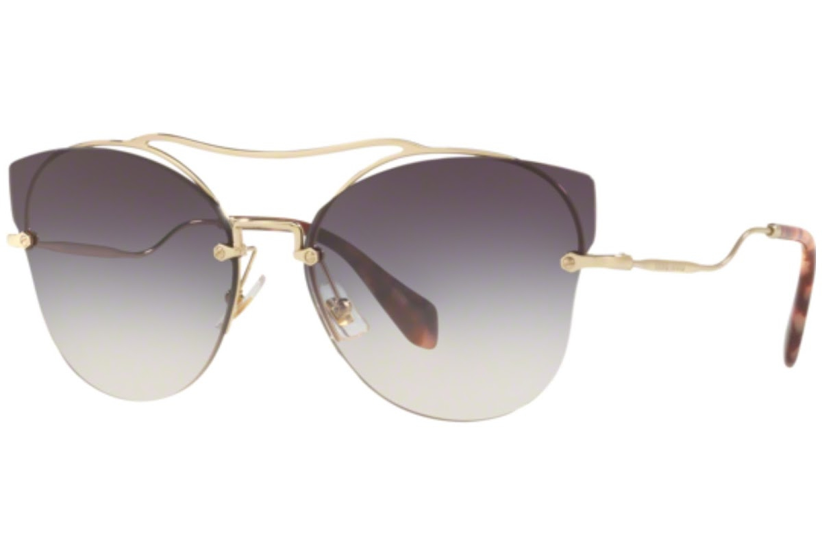 Miu Miu - Occhiale da Sole Donna, Core Collection Scenique Evolution, Pale Gold/ Grey Shaded MU 52SS ZVNGR0 C62