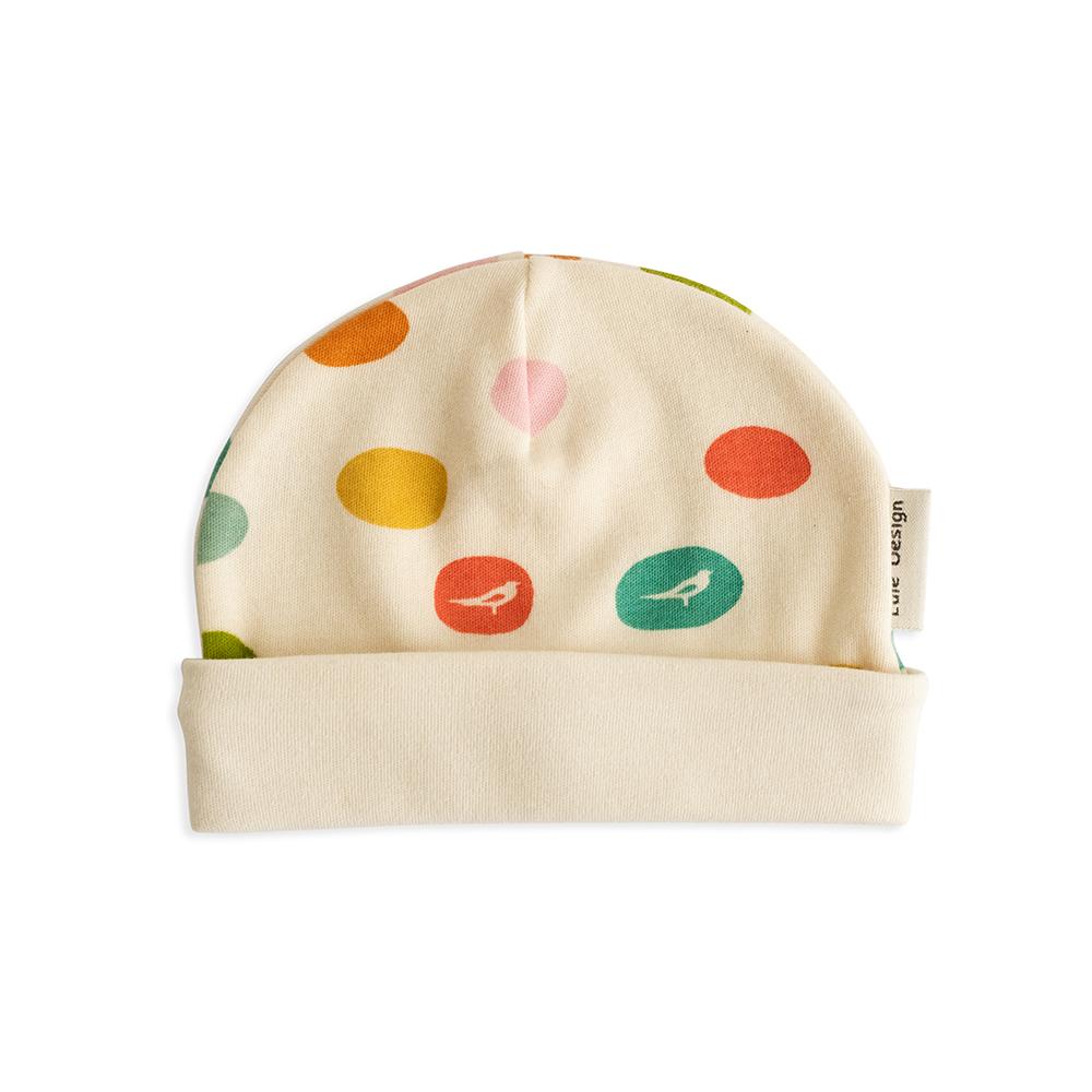 Cappellino fantasia confetti in cotone biologico