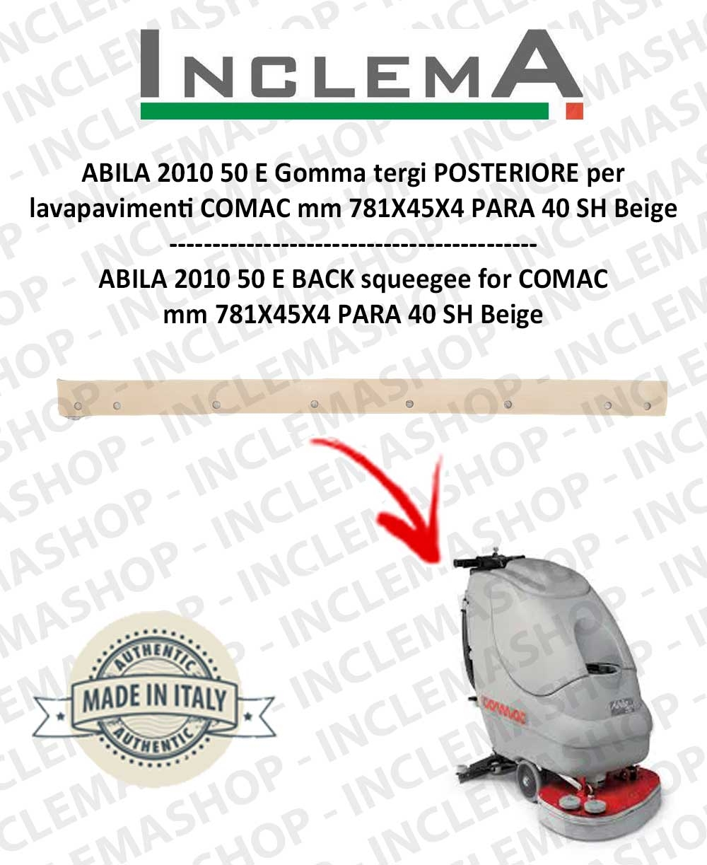 ABILA 50 E Gomma tergi POSTERIORE per lavapavimenti COMAC Old Alluminium Sq. 111011125