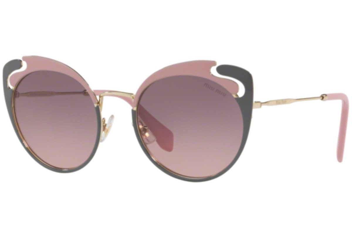 Miu Miu - Occhiale da Sole Donna, Core Collection Noir Evolution, Pink Grey/ Grey Pink Shaded MU57TS M1R146 C54