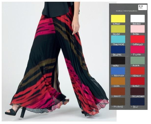 Pantalone lungo plisse