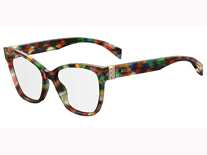 Moschino - Occhiale da Vista Donna, Multicolor Havana MOS510 F74  C53