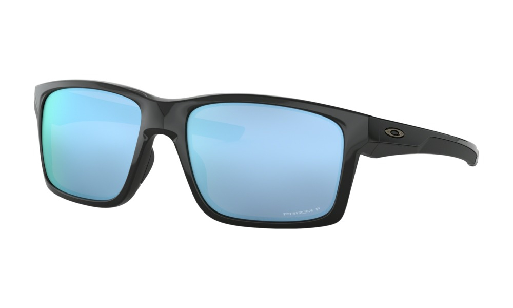 Oakley - Occhiale da Sole Uomo, Interplas Mainlink, Polished Black/Prizm Deep Water Polarized  OO9264 926421 C57