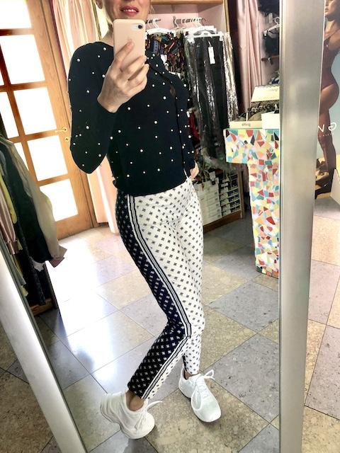 Pantalone stampato Little Hub Oroblu Taglia S