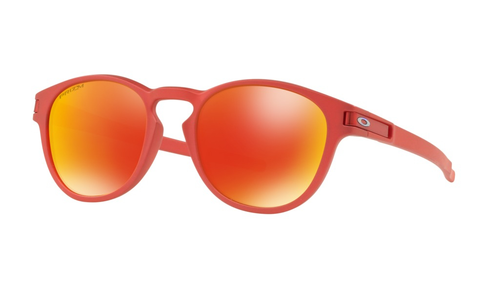 Oakley - Occhiale da Sole Uomo, Latch Spectrum Collection, Ir Red/Prizm Ruby  OO9265 926525 C53
