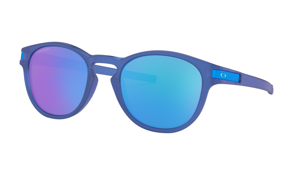 Oakley - Occhiale da Sole Uomo, Latch Spectrum Collection, X-Ray Blue/Prizm Sapphire  OO9265 926524 C53