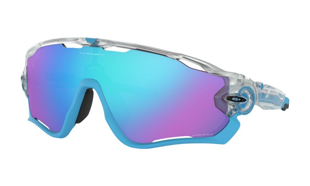 Oakley - Occhiale da Sole Unisex, Jawbreaker Crystal Pop, Matte Blue Clear/Prizm Sapphire  OO9290 929040  C131