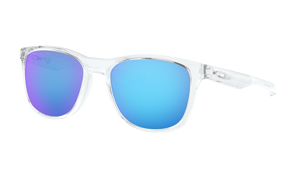 Oakley - Occhiale da Sole Uomo, Trillbe™ X, White Polished Clear/Sapphire Iridium Polarized OO9340 934005  C52