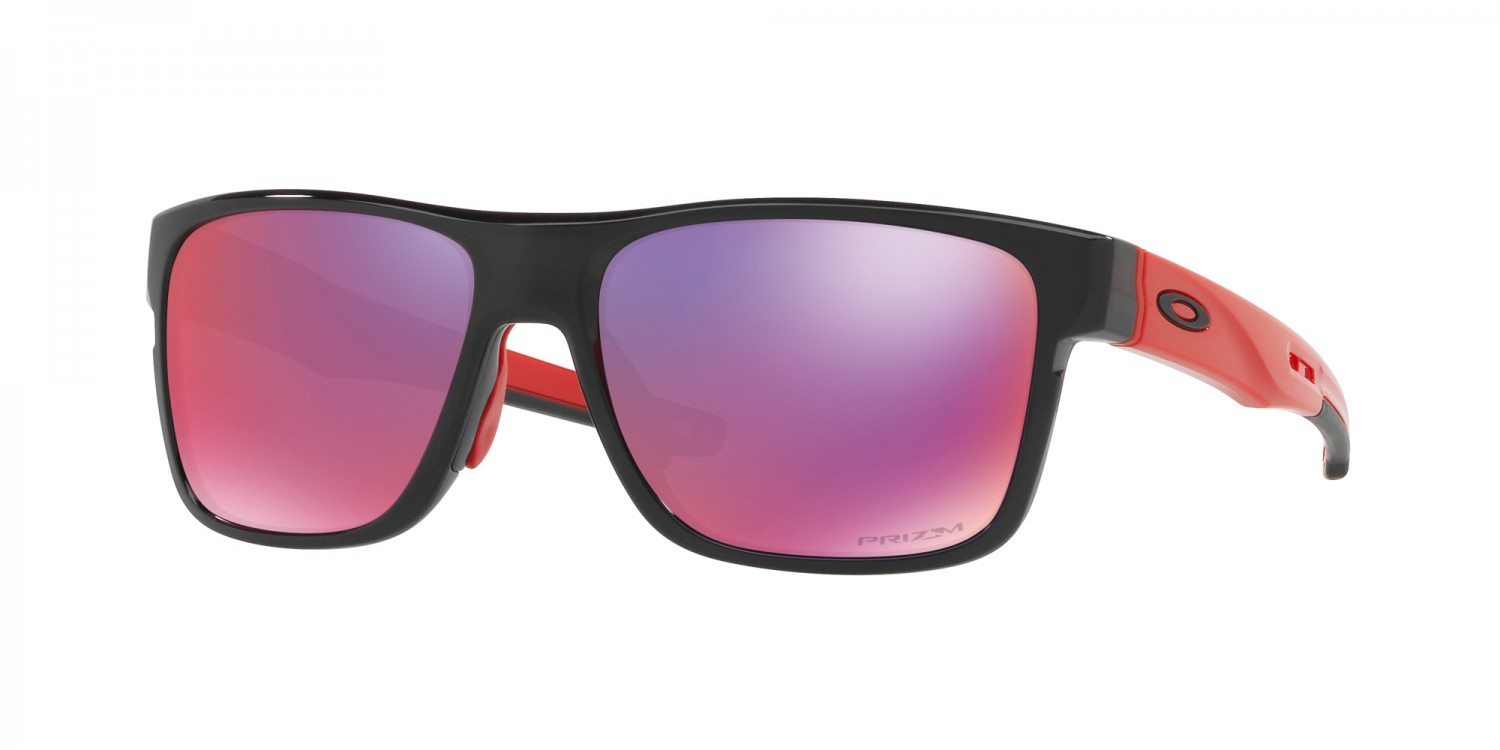 Oakley - Occhiale da Sole Uomo, Crossrange™, Black-Red Ink/Prizm Road  OO9361 936105  C57