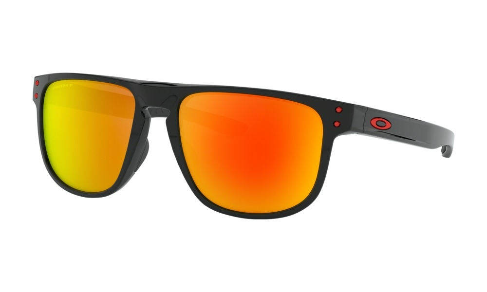 Oakley - Occhiale da Sole Uomo, Holbrook™ R, Polished Black/Prizm Ruby Polarized  OO9377 937707  C55