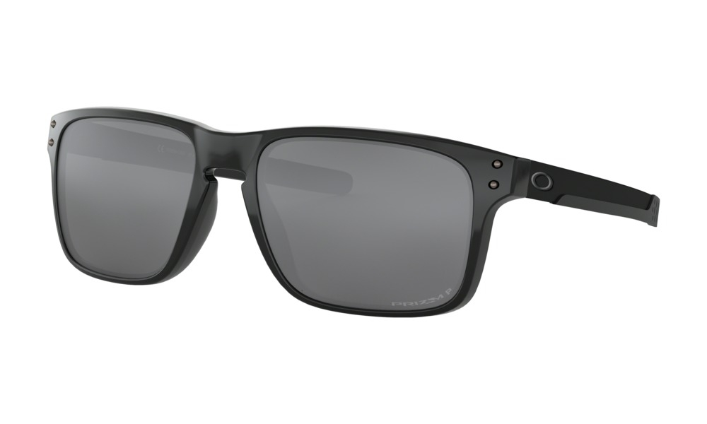 Oakley - Occhiale da Sole Uomo, Holbrook™ Mix, Polished Black/Prizm Black Polarized  OO9384 938406   C55