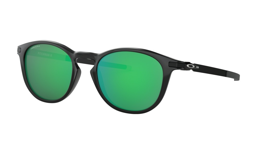 Oakley - Occhiale da Sole Uomo, Pitchman R, Polished Black Ink/Green Prizm Jade  OO9439 943903  C50